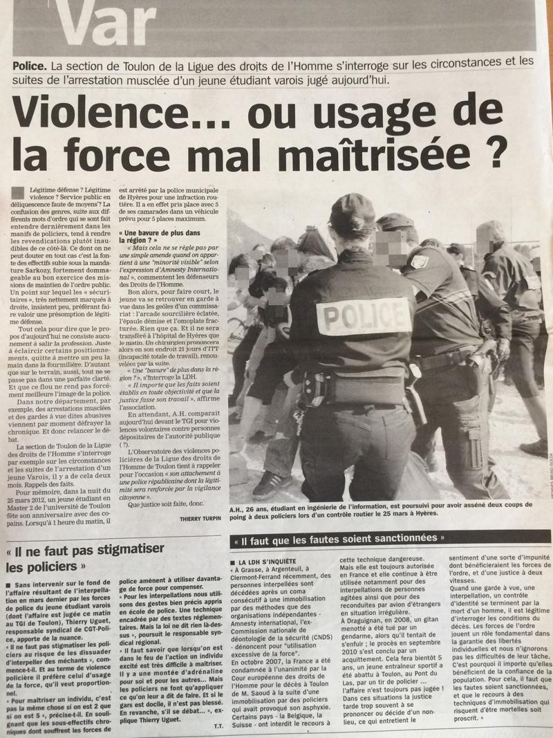 La ligue des droits de l'homme de Toulon s'interroge