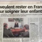 Ils veulent rester en France pour soigner leur enfant